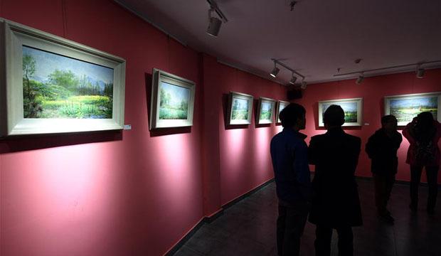 段宇方风景画展在杭州开幕